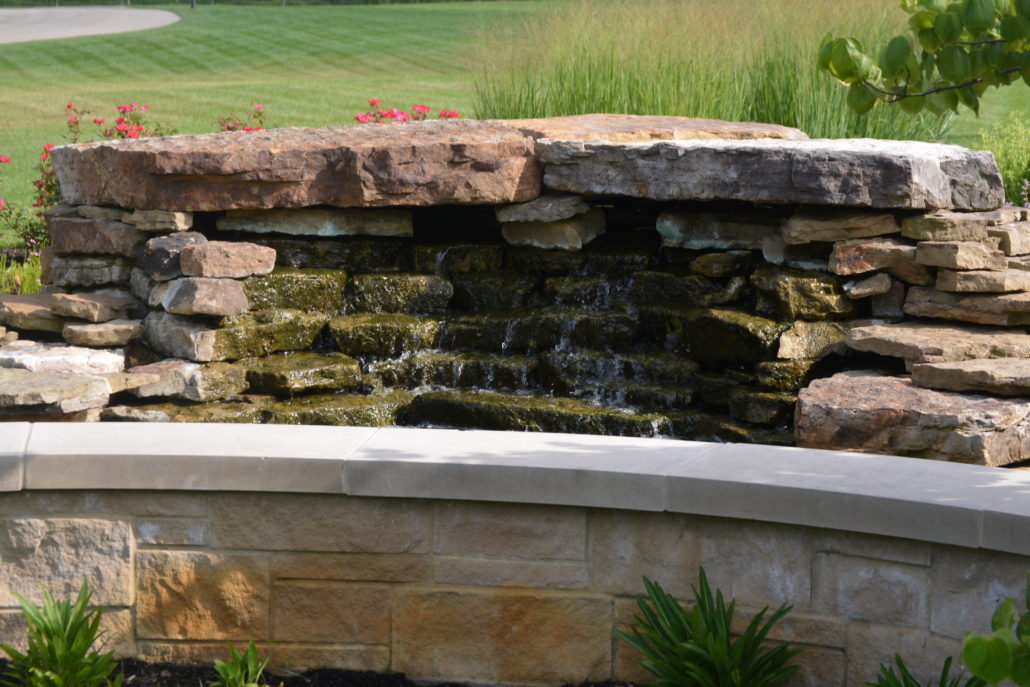 Hardscape Waterfall and Retaining Wall