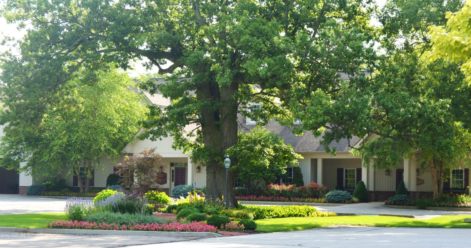 Front View of local business with professional landscaping